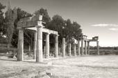 image of artemis  - Remains of the Sanctuary of Artemis at Vravrona in Greece - JPG