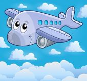 Image with airplane theme 5 - eps10 vector illustration.