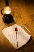 Rose And Manuscript