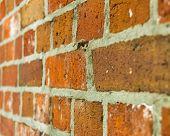 Brick wall with angle.