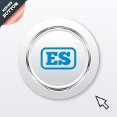 Spanish language sign icon. ES translation.