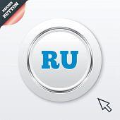 Russian language sign icon. RU translation
