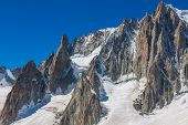 picture of crevasse  - Massif de mont Blanc on the border of France and Italy - JPG