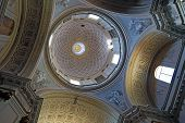 Ascoli Piceno, Italy - June 02, 2014: Lateral Dome Of The S. Emidio's Cathedral In Ascoli Piceno