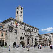 Ascoli Piceno, Italy - June 02, 2014: The Palazzo Dei Capitani Del Popolo (