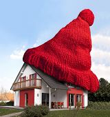 House With Red Woolen Hat