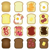 set of toasts