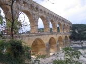 Ponte Garde, acueducto del imperio romano en el sur de Francia