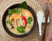 image of thai cuisine  - Traditional hot Tom Yam soup  - JPG