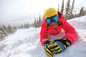 stock photo of snowboarding  - Winter sport - JPG
