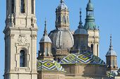 View of the  basilica of the Virgen del Pilar, Zaragoza, Aragon, Spain