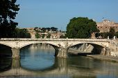 Rome View From The Bridge Over The Tiber River - Rome - Italy