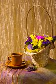 Still Life With Colorful Fresh Flowers