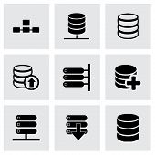 Vector database icon set