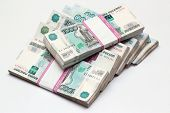 Packs of the Russian banknotes