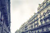 antique city building in paris,france Europe