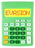 Calculator With Evasion On Display Isolated