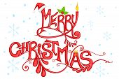 Ornamental Background of Merry Christmas