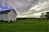 Old Dairy Barn in the early spring