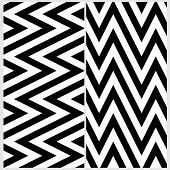 Set of two sloping zigzag line pattern