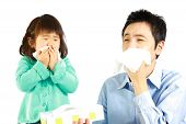 stock photo of hay fever  - concept shot of typical Japanese people - JPG