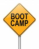 image of boot camp  - Illustration depicting a sign with a boot camp concept - JPG