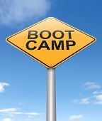 picture of boot camp  - Illustration depicting a sign with a boot camp concept - JPG