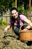 Happy Young Gardener Woman