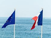 pic of flag confederate  - flags of eu and france - JPG