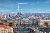 viewpoint panorama of Prague over the river
