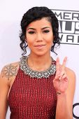LOS ANGELES - NOV 23:  Jhene Aiko at the 2014 American Music Awards - Arrivals at the Nokia Theater on November 23, 2014 in Los Angeles, CA