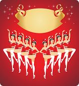 picture of cabaret  - Cabaret girls dancing  in Santa Claus costumes - JPG