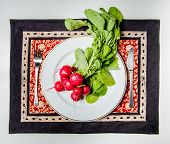 Radishes On The Plate