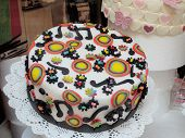 Italian Arts And Crafts. Cake With Musical Painting
