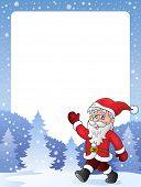 Frame with Santa Claus theme 2 - eps10 vector illustration.