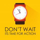 image of darkness  - Time for Action and Dont Wait Concept - JPG
