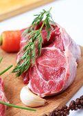Raw shin beef