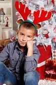 Cute Boy At Christmas