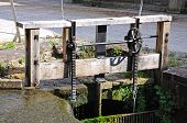 Cromford Mill sluice gate.