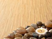 Zen Candle In Pebbles