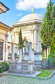 stock photo of mausoleum  - The historic Sultan Mahmud II Mausoleum and Cemetery located at Divan Yolu street Istanbul Turkey - JPG