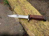 stock photo of kalashnikov  - bayonet knife army - JPG