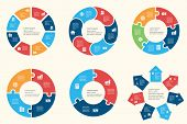 picture of diagram  - Circular infographic template for cycling diagram - JPG