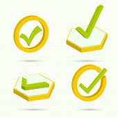 pic of confirmation  - Isometric icons - JPG