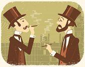 stock photo of bowler  - Gentlemen in bowler hats - JPG