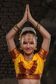 pic of national costume  - European child in national costume of India - JPG