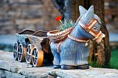 donkey flower pot
