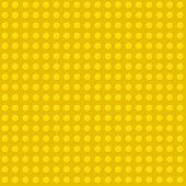 Yellow Seamless Background of Plastic Construction Block. Vector poster
