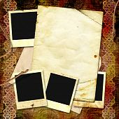 Vintage Background With Frames For Photo And Notebook.