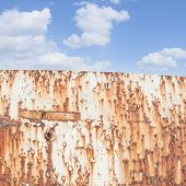 image of shipwreck  - Blue Sky and rust - JPG